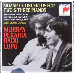 Mozart: Koncert for 2 og 3 klaverer. Perahia, Lupu. 1 CD. Sony