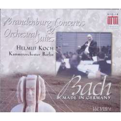 Bach: Six Brandenburg Concertos. & four Orchestral Suites. Helmut Koch, Berlin Chamber Orchestra. 3 CD. Berlin Classics