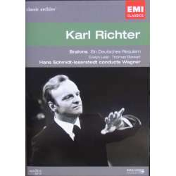 Brahms: Ein Deutsches Requiem, & Wagner: Preludes and Liebestod. Karl Richter, ORTF choir and orchestra. 1 DVD. EMI Classic
