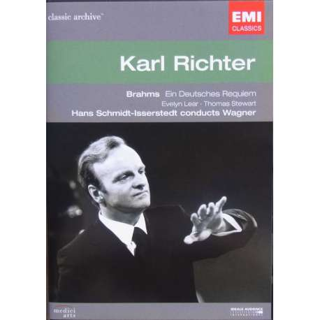 Brahms: A German Requiem & Wagner: Preludes and Liebestod. Karl Richter, ORTF choir and orchestra. 1 DVD. EMI Classic Archives.