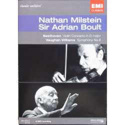 Beethoven: Violinkoncert Nathan Milstein. & VW: Symfoni nr. 8. Sir Adrian Boult. 1 DVD. EMI Classic Archive