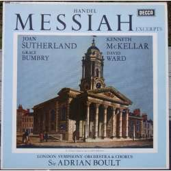 Handel: Messiah in highlights Sutherland, Bumbry. Adrian Boult, LSO. 1 LP. Decca. SXL 2316