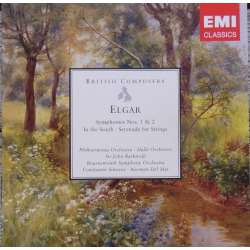 Elgar: Symfoni nr. 1 & 2. Halle SO. John Barbirolli. 2 CD. EMI