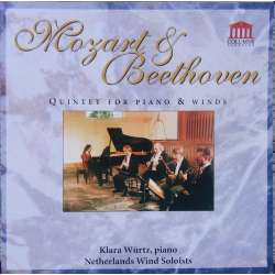 Beethoven & Mozart Quintet for piano and Winds. Klara Würtz, Netherlands Wind Soloists, 1 CD. Columns