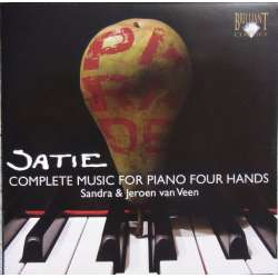 Erik Satie. Complete works for piano four hands. Sandra & Jeroen van Veen. 1 CD. Brilliant Classics. New Copy