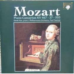 Mozart: Piano Concertos nos. 1, 21 & 25. Derek Han, Paul Freeman. 1 CD. Brilliant Classics