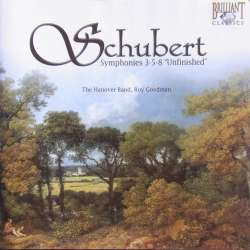 Schubert: Symfoni nr. 3, 5 & 8. Hannover Band, Roy Goodman. 1 CD. Brilliant Classics. 93303