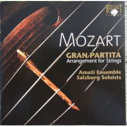 Mozart: Serenade no. 10. Gran Partita. K361. Salzburg Soloists. 1 CD. Brilliant. 93696