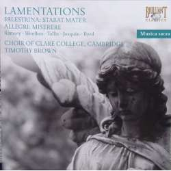 Palestrina: Stabat Mater. & Allegri: Miserere. Clare College Choir, Brown. 1 CD. Brilliant Classics