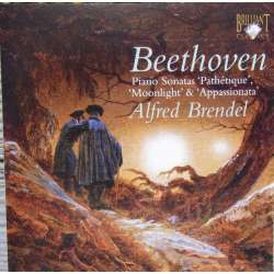 Beethoven: Moonlight, Pathetique, Appassionata. Alfred Brendel. 1 CD. Brilliant Classics.