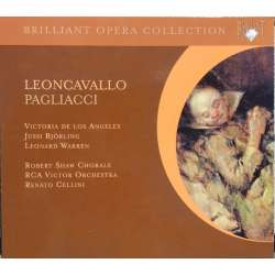 Leoncavallo: I Pagliacci. Jussi Bjorling, Victoria de los Angeles, Renato Cellini. 1 CD Brilliant Classics. New Copy