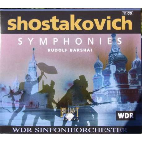 Shostakovich: Symphonies nos. 1-15. Rudolf Barshai, WDR. 11 cd Brilliant Classics 6275. (11 single cds) New Copy.
