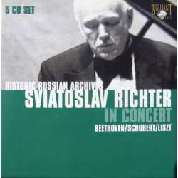 Sviatoslav Richter in Concert. Beethoven, Liszt, & Schubert Piano Sonatas. 5 CD. Russian Archives