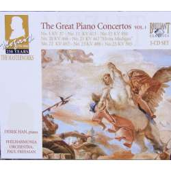 Mozart: Piano concertos nos. 1, 11, 15, 20, 21, 22, 23, 25. Derek Han, Philharmonia, Paul Freeman. 3 CD. Brilliant Classics