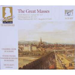 Mozart: Kroningsmessen, Store messe, Missa Solemnis. Requiem. Chamber Choir of Europe. 3 CD. Brilliant Classics