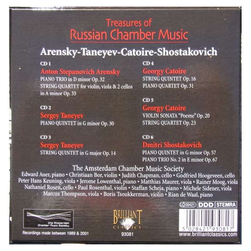 Treasures of Russian Chamber music  (6CD) Plade-klassikeren dk