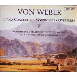 von Weber: Symphonies, Concertos & Ouvertüres. Marriner, Academy St. Martin in the Fields. 3 CD. Brilliant Classics