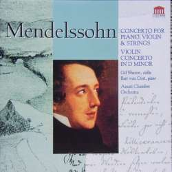 Mendelssohn: Concerto for violin and piano and strings, Gil Sharon, Amati chamber orchestra. 1 CD. Columms.