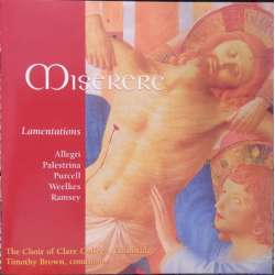 Allegri: Miserere. & Palestrina: Stabat Mater. Clare College Choir. 1 CD. Brilliant Classics