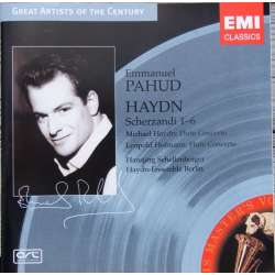 Haydn: Fløjtekoncert + Scherzandi nr. 1-6. Emmanuel Pahud. 1 CD. EMI Great Artists of the Century.