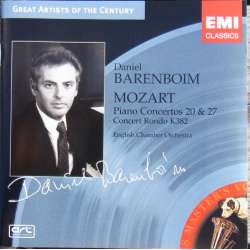 Mozart: Klaverkoncert nr. 20 & 27. Daniel Barenboim. 1 CD. EMI Great Artists of the Century.