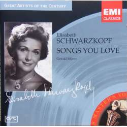 Elisabeth Schwarzkopf: Songs you Love. 1 CD. EMI Great Artists of the Century.