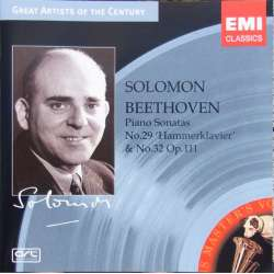Beethoven: Klaversonate nr. 29 & 32. Solomon. 1 CD. EMI Great Artists of the Century.