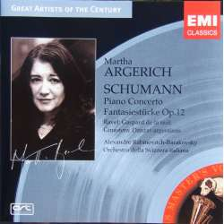 Schumann: Klaverkoncert. Martha Argerich. 1 CD. EMI Great Artists of the Century.
