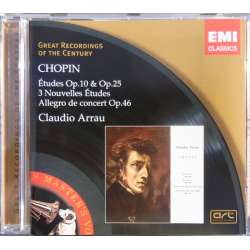 Chopin: Etudes opus 10 & 25. mm. Claudio Arrau. 1 CD. EMI. GRC