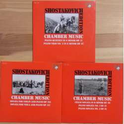 Shostakovich: Klaverkvintet, Klavertrio, Violinsonate. Cellosonate. + Klaversonate nr. 1 og 2. 3 CD. Brilliant Classics.