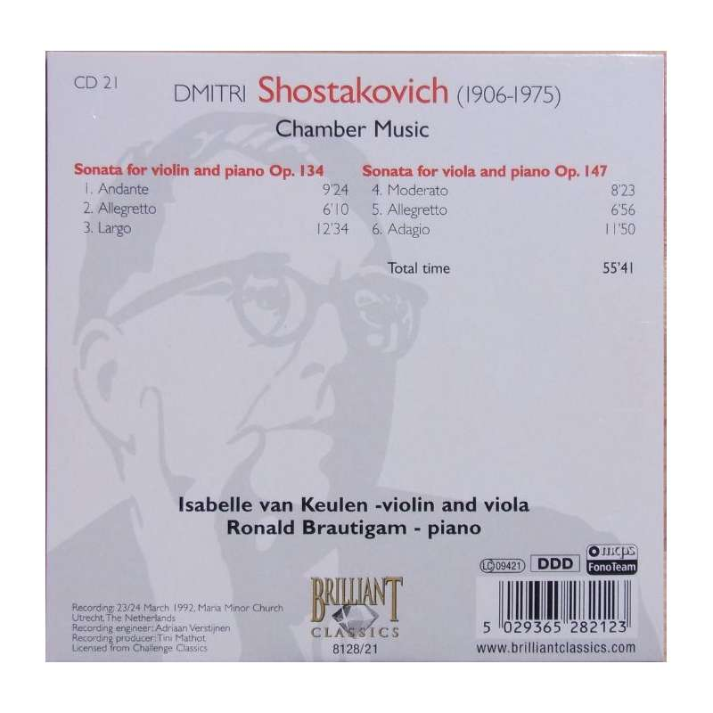 shostakovichs chamber music and musical tradition His musical education was  fontenay classics international stands for fine chamber music, superior sound and exquisite design 50 and shostakovichs.