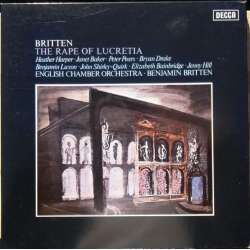 Britten: The Rape of Lucretia. Pears, Baker, ECO. Britten. 2 LP. Decca. New Copy