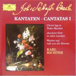 Bach: Cantatas BWV 4. BWV 51. BWV 140. Karl Richter, Münchinger Bach Choir. 1 CD. DG.