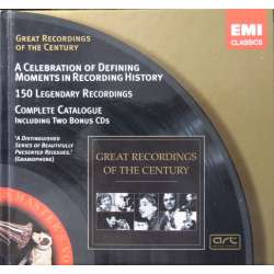 Great Recordings of the Century. Komplet katalog + 2 CD med prøver på serien. 2 CD. EMI. GRC