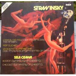 Stravinsky: Ildfuglen, Petrouchka, Le Sacre du Printemps. Boston SO. Ozawa. 2 LP. RCA