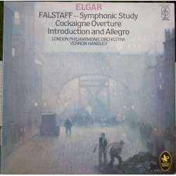 Elgar: Falstaff, Cockaigne overtüre, Introduction og Allegro. LPO. Vernon Handley. 1 LP. EMI