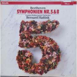 Beethoven: Symphonies nos. 5 & 8. London PO. Bernard Haitink. 1 LP. Philips. New Copy