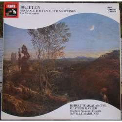 Britten: Serenade for tenor, horn & Strings. + Les Illuminations. Neville Marriner. 1 LP. EMI