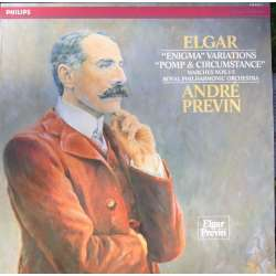 Elgar: Enigma variations & Pomp and Circumstance. André Previn, RPO. 1 LP. Philips