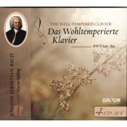 Bach: The Well-Tempered Clavier. Martin Galling 4 CD. Membran
