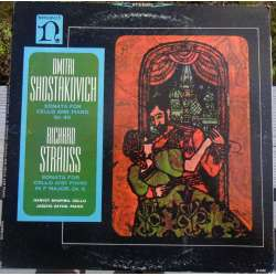 Shostakovich: Cello Sonata Op. 40 & R. Strauss: Cello sonata Op. 6. Harvey Shapiro, Jascha Zayde. 1 LP. Nonesuch