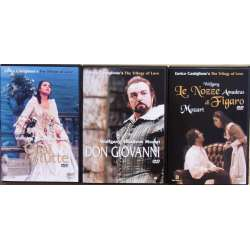 3 Mozart operaer på DVD. Cosi fan tutte & Don Giovanni & Figaros bryllup. 3 DVD. Pan Dream