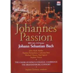 Bach: Johannespassionen. Stephen Cleobury. Ainsley, Boot. Kings College Choir. 1 DVD. Brilliant Classics