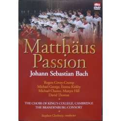 Bach: Matthäus passion. Kirkby, Crump. Kings College Choir. Stephen Cleobury. 1 DVD. Brilliant Classics
