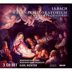 Bach: Juleoratoriet. Karl Ricther. Münchner Bach. 3 CD.