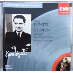 Dinu Lipatti: Chopin: Waltzes, & Bach, Mozart og Schubert. 1 CD. EMI Great Artist of the Century
