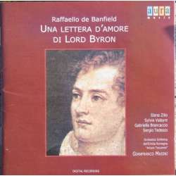 Banfield: Lord Byrons love letter. Masini, Zilio, Valayre, Brancaccio. 1 CD. Aura