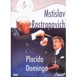 Haydn: Cello Concerto no. 1. & Tchaikovsky 1812 Overture. Mstislav Rostropovich & Placido Domingo - in concert. 1 DVD. New Copy