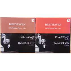Beethoven: Cellosonate nr. 1-5. + Variationer. Rudolf Serkin & Pablo Casals. 2 CD. Sony