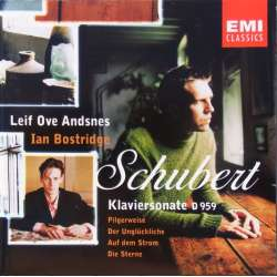 Schubert: Piano sonata D 959 + 4 lieder. Leif Ove Andsnes, Ian Bostridge. 1 CD EMI.